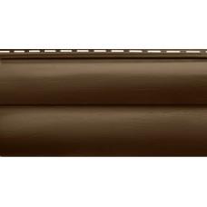 Акриловый сайдинг Альта профиль БЛОКХАУС Премиум, Орех тёмный ВН-02 3100х320 мм