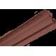 Планка внутренний угол АЛЬТА ПРОФИЛЬ Blockhouse Красно-коричневая Т-13, 3000 мм
