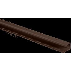 Планка J-trim АЛЬТА ПРОФИЛЬ Альта-Сайдинг, цвет Коричневый Т-15, 3000 мм