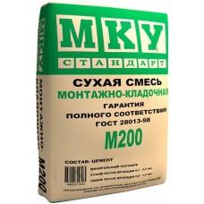 Сухая смесь Монтажная-кладочная МКУ М200 (40кг) (35шт/под)