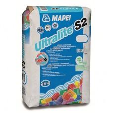 Клей для плитки Mapei Ultralite S2 серый 15 кг