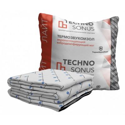 Акустический мат TECHNO SONUS Термозвукоизол Лайт, 10000х1500х10 мм (15 м2)