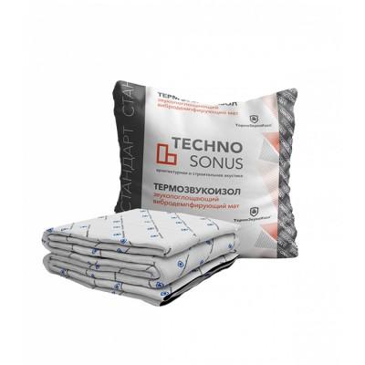 Акустический мат  TECHNO SONUS Термозвукоизол Стандарт, 10000х1500х14 мм (15 м2)